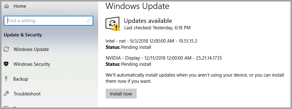 Updating Internet Explorer/Edge